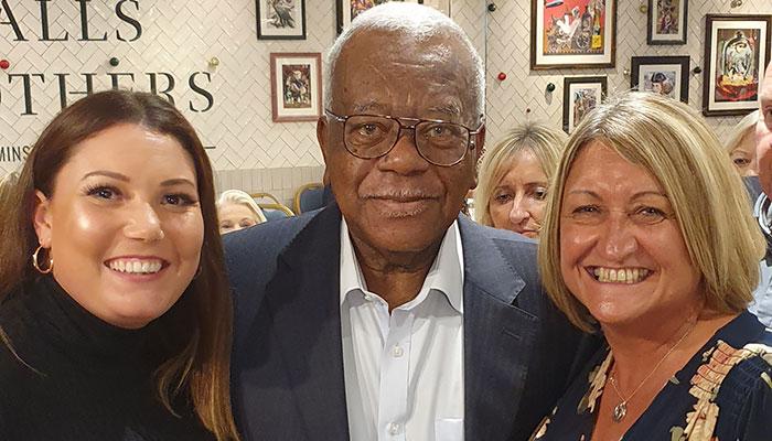 Sir Trevor Mcdonald with Jen & Karen
